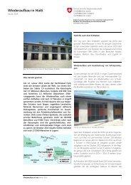 Wiederaufbau in Haiti - Deza - admin.ch