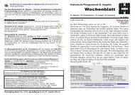 Gottesdienstordnung vom 23 - Bistum Hildesheim