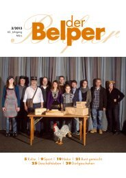 5 Kultur | 9 Sport | 19 Natur | 21 Bunt gemischt 25 ... - Der Belper