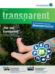 Businessletter Transparent 2/2013 (PDF, 6 MB) - Gelsenwasser AG