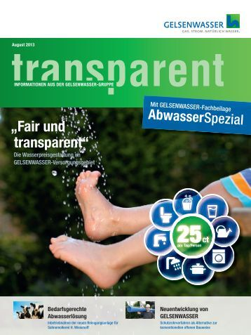 Businessletter Transparent 2/2013 (PDF, 6 MB) - Gelsenwasser AG