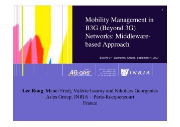 Mobility Management in B3G (Beyond 3G) Networks: Middleware ...