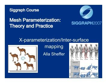 Cross-Parameterization / Inter-Surface Mapping