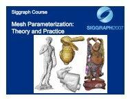 Mesh Parameterization: Theory and Practice Mesh Parameterization ...