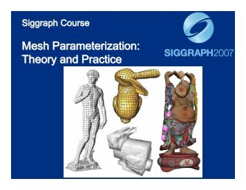 Mesh Parameterization: Theory and Practice Mesh Parameterization ...