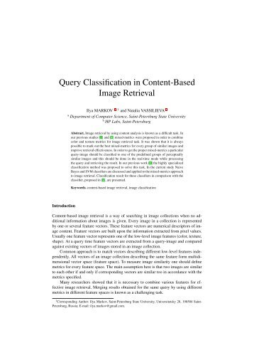 Query Classification in Content-Based Image Retrieval