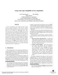 Large scale, type-compatible service composition - Web ... - DIP