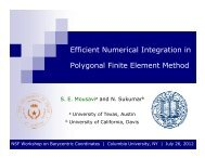 Efficient Numerical Integration in Polygonal Finite Element Method