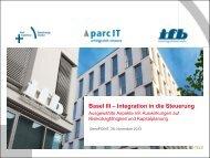 Basel III - Integration in die Steuerung