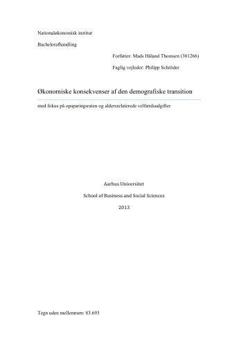 Økonomiske konsekvenser af den demografiske transition ... - PURE