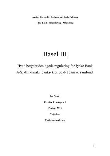Basel III - PURE - Aarhus Universitet