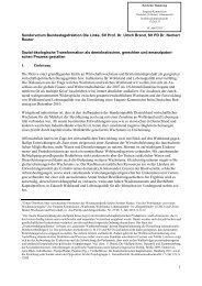 131 Sondervotum zur Sozial-ökologische Transformation