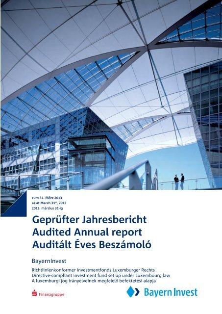 Geprüfter Jahresbericht Audited Annual report Auditált Éves ...