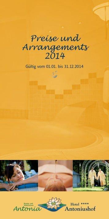 Hotel Antoniushof Preise 2014