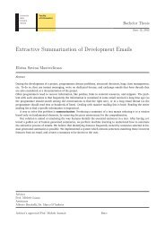 Extractive Summarization of Development Emails