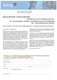 Klima-Wandel–Lebens-Wandel Einladung zum ... - infag