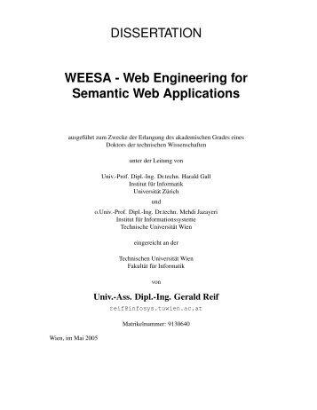 Web Engineering for Semantic Web Applications