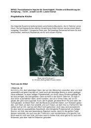 Franziskanische Impulse - Prophetische Kirche - infag