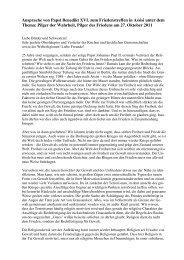 Ansprache von Papst Benedikt XVI Treffen Assisi - infag