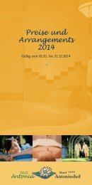 Preise und Arrangements 2014
