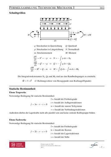 Bestimmtheit magazine for Statische bestimmtheit berechnen