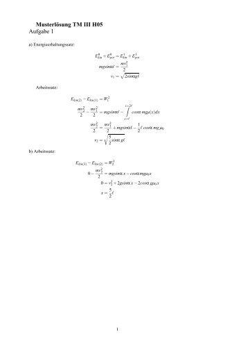 Musterlösung TM III H05 Aufgabe 1