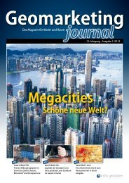 Geomarketing-Journal - infas GEOdaten