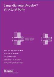 Large diameter Avdelok® structural bolts