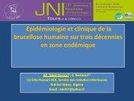 Épidémiologie et clinique de la brucellose humaine ... - Infectiologie