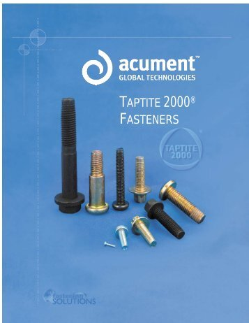 TAPTITE 2000 Thread-Rolling Fasteners for Metal