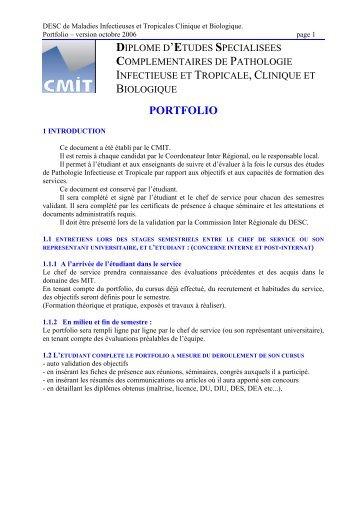 PORTFOLIO - Infectiologie