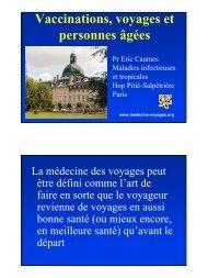 Sujet agé et voyage: quelle prévention vaccinale - Infectiologie