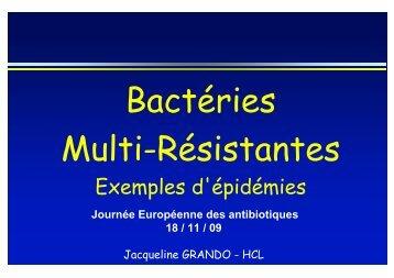 Problèmes actuels : résistance - Infectiologie