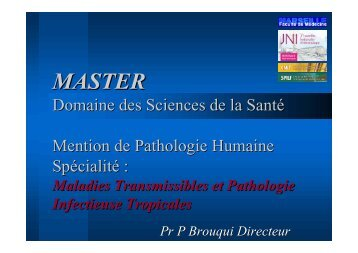 MASTER - Infectiologie