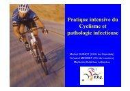 Pratique intensive du Cyclisme et pathologie infectieuse - Infectiologie