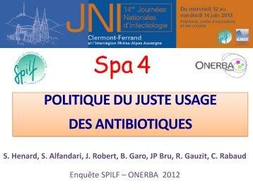 (ATB) dans les établissements de soins (ES) français - Infectiologie