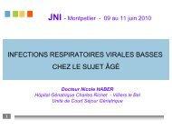 Infections virales respiratoires basses chez les ... - Infectiologie