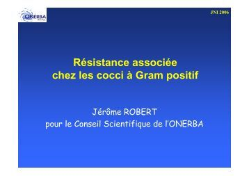 Résistance associée chez les cocci à Gram positif - Infectiologie