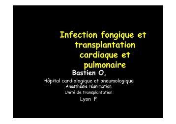 Infections fongiques en transplantation cœur poumons - Infectiologie