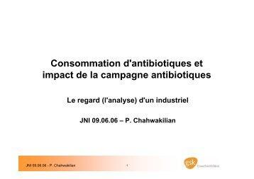 Consommation d'antibiotiques et impact de la ... - Infectiologie