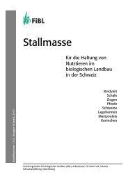 Stallmasse für die Haltung von Nutztieren im ... - Bioaktuell.ch