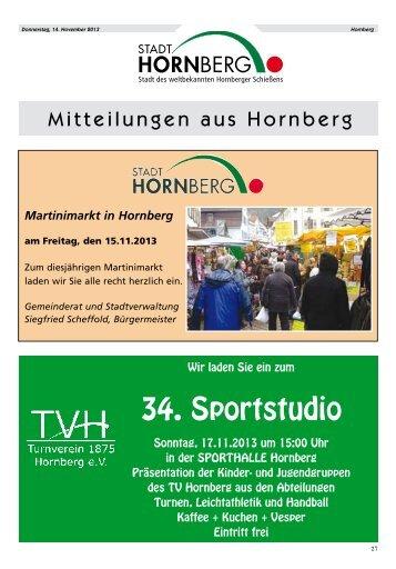 Amtliches_Nachrichtenblatt_Hornberg_Nr. 46_vom 14.11.2013