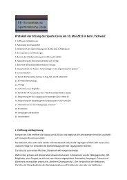 Protokoll Spartensitzung 2013 Bern