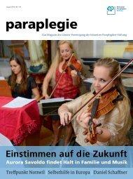 Paraplegie Nr. 147, August 2013 (PDF, 4.3 MB) - Schweizer ...