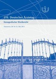 Stenografischer Wortbericht zum 116. Deutschen Ärztetag ...