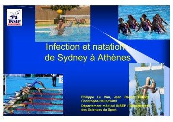 Infection et natation de Sydney à Athènes - Infectiologie