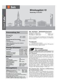 Mitteilungsblatt Sulz 43 / 2013 (application/pdf) - Stadt Lahr