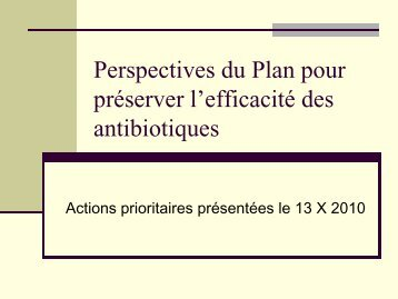 Quelle Prospectives - Infectiologie