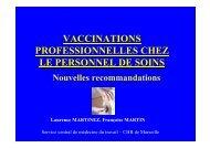 Ce qui a changé dans les vaccinations professionnelles - Infectiologie