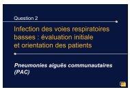 Infection des voies respiratoires basses : évaluation ... - Infectiologie